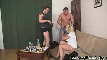 doggy mature blonde Fuck in festival tent