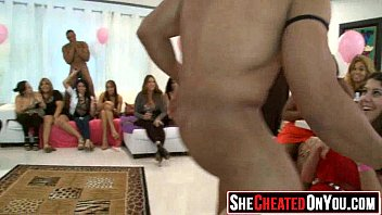 party by ladies cfnm seduced strippers Group sex with two midgets
