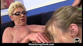 watching son interracial mum Homemade with boy