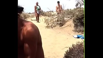 partner beach strangers dogging Real brother and sister together