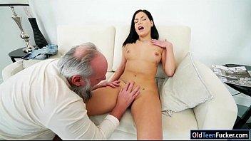 grandpa hands licking Great blowjob deep throat