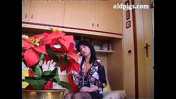 granny a year young 80 man kissing German mature redhead