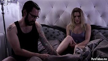 blonde with guy hooker around bold hairy tranny messes and blowjob gets Forced incest mom