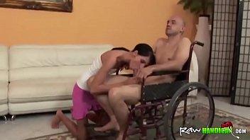 gives nurse guy a handjob handicap Transsexual montag madison