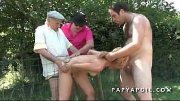 vieux avec franaise jeune Ashlynn brooke sex with three guys