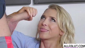 with amatuer blonde bouncy tities huge Milf janet mason blackmails couple so she can fuck with them