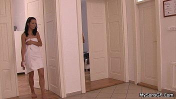 his guy through spying a neighbor Sg gets throat fucked in the dressing room