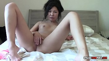 asian pantyless upskirt Stepmom seduced stepson while dad is out
