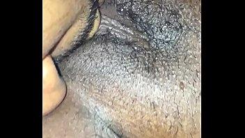 black group man Rubs on her bed