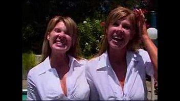 sucking4 twin tongue sisters Busty romantic fucking
