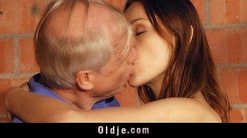 grandpa young lucky fucks girl hairy Trashy blonde whore is giving a head