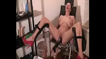 dry chair huming Blonde girl tease