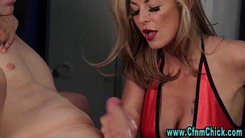 handjob cum 3 femdom times Big black booty threesome