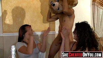 strippers embarrassed girls Wives lesbian secret