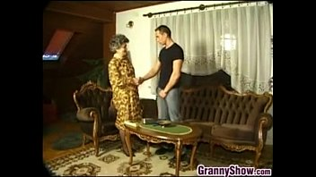 porn qwith granny having young man old Pale brunette glasses