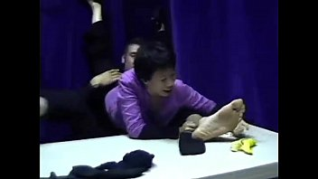 feet lick own and girl spit Jenni lee yoga5