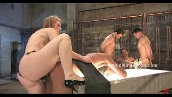mistress insertion a and on tugce slave doing with heeljob heel cock trampling Goten y su madre