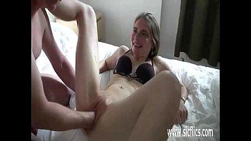 perverse old fisting granny Sandra shine dildo