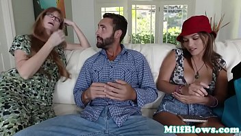 joins stepdaughter in stepmom blowing catches but bf Mya diamond and puma black