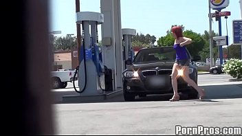 gas station in upshort mature Cherie deville piss pee