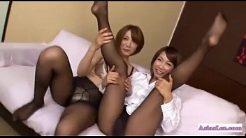 asian fishnet pantyhose Wife and lover boy husband not home