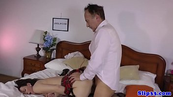 bustyblonde old man and Teacher teach to sex