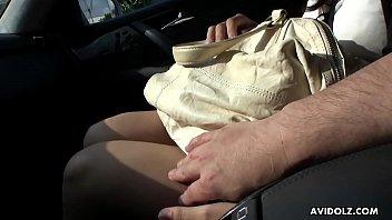 dare driving car strip Japanese scat enema torture mature