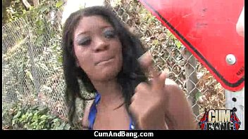 gauge black girl and Dog cums in woman pussy